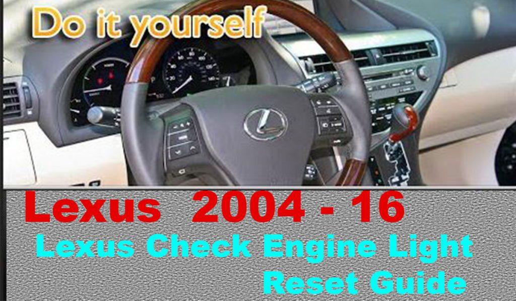 Lexus Check Engine Light