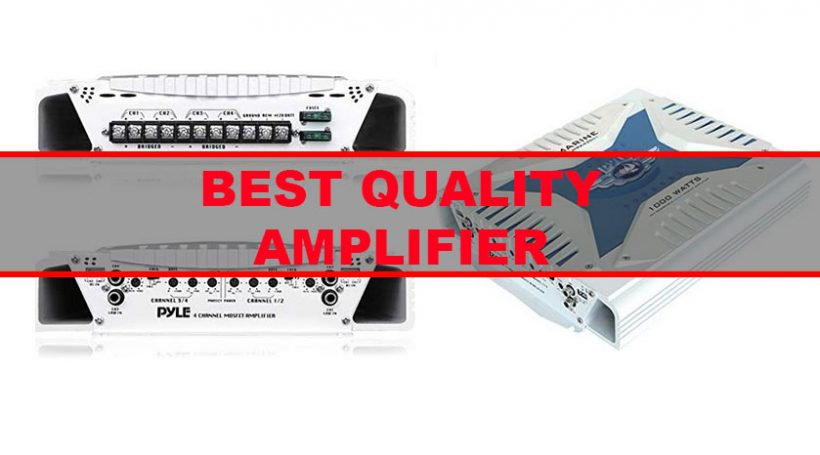 Best 4 Channel Car Amp for Sound Quality