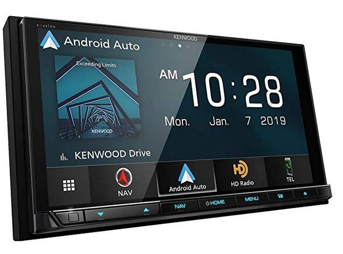 double din head unit with navigation and backup camera