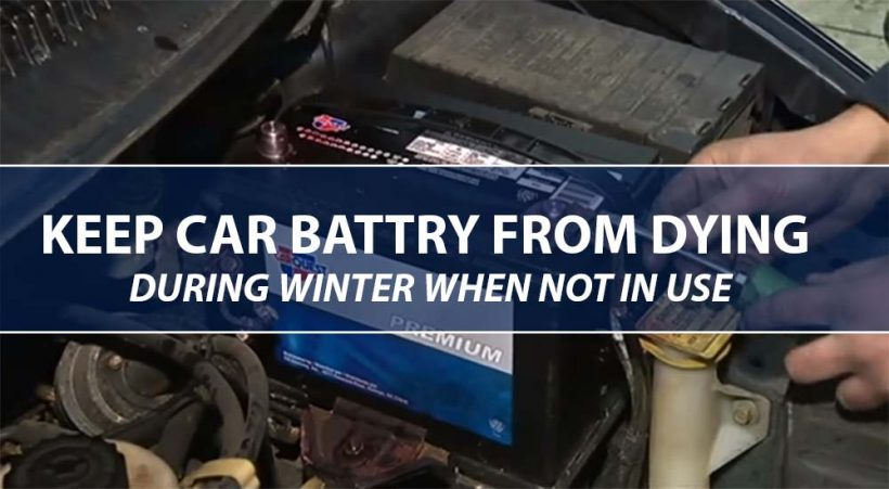 how to keep car battery from dying when not in use: in Cold Weather